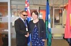 U poseti Ambasadi Australije – Humanitarni radio i udruženje građana Ekspres