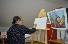 Majstorski čas slikarstva Leonida Baranova u Prvoj kragujevačkoj gimnaziji